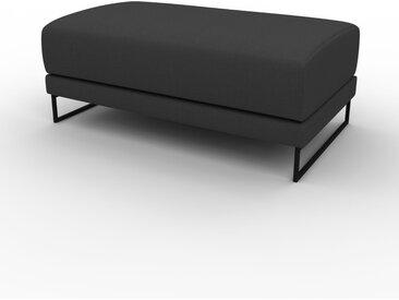 Polsterhocker Anthrazit - Eleganter Polsterhocker: Hochwertige Qualität, einzigartiges Design - 100 x 42 x 60 cm, Individuell konfigurierbar