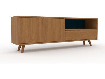 Lowboard Eiche - TV-Board: Schubladen in Eiche & Türen in Eiche - Hochwertige Materialien - 154 x 53 x 35 cm, Komplett anpassbar