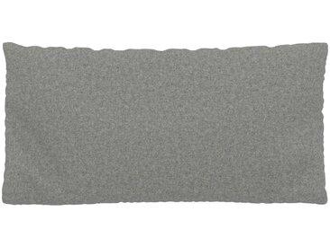 Kissen - Lichtgrau, 40x80cm - Wolle, individuell konfigurierbar