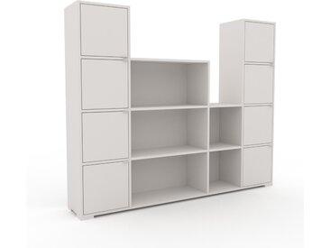 Aktenschrank Weiß - Flexibler Büroschrank: Türen in Weiß - Hochwertige Materialien - 193 x 158 x 35 cm, Modular