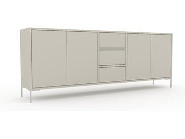 Sideboard Taupe - Sideboard: Schubladen in Taupe & Türen in Taupe - Hochwertige Materialien - 190 x 72 x 35 cm, konfigurierbar