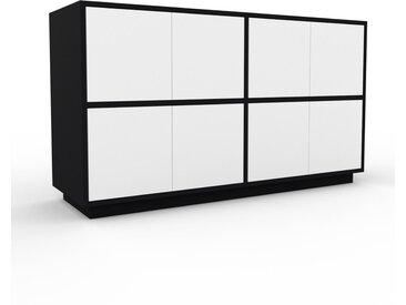 Aktenschrank Schwarz - Flexibler Büroschrank: Türen in Weiß - Hochwertige Materialien - 152 x 85 x 47 cm, Modular