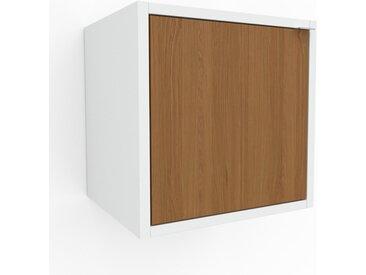 Hängeschrank Eiche - Moderner Wandschrank: Türen in Eiche - 41 x 41 x 35 cm, konfigurierbar