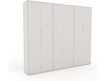 Schrank Weiß - Moderner Schrank: Türen in Weiß - Hochwertige Materialien - 226 x 195 x 35 cm, Selbst zusammenstellen