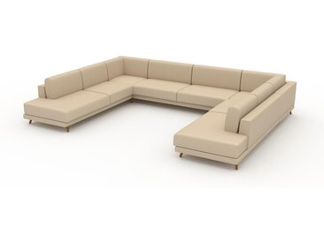 Wohnlandschaft Cremebeige - Flexible Designer-Wohnlandschaft: Hochwertige Materialien, einzigartiges Design - 388 x 75 x 294 cm, Konfigurator