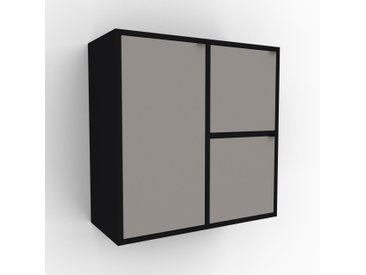 Hängeschrank Sandgrau - Moderner Wandschrank: Türen in Sandgrau - 79 x 80 x 35 cm, konfigurierbar