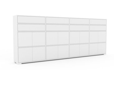 Sideboard Weiß - Sideboard: Schubladen in Weiß & Türen in Weiß - Hochwertige Materialien - 301 x 120 x 35 cm, konfigurierbar