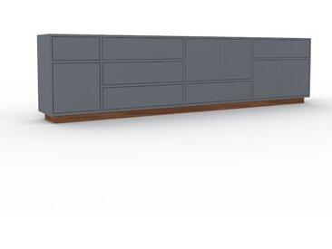Sideboard Anthrazit - Sideboard: Schubladen in Anthrazit & Türen in Anthrazit - Hochwertige Materialien - 265 x 66 x 35 cm, konfigurierbar