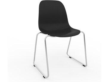 Holzstuhl in Schwarz 49 x 82 x 58 cm einzigartiges Design, konfigurierbar