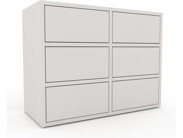 Rollcontainer Weiß - Moderner Rollcontainer: Schubladen in Weiß - 79 x 61 x 35 cm, konfigurierbar