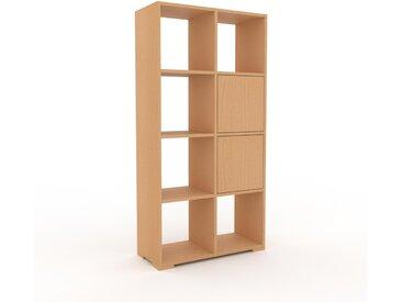 Aktenregal Buche - Flexibles Büroregal: Türen in Buche - Hochwertige Materialien - 79 x 158 x 35 cm, konfigurierbar