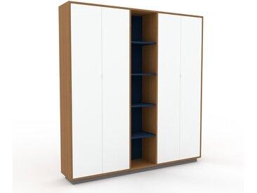 Schrank Weiß - Moderner Schrank: Türen in Weiß - Hochwertige Materialien - 190 x 200 x 35 cm, Selbst zusammenstellen
