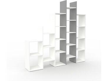 Regalsystem Weiß - Flexibles Regalsystem: Hochwertige Qualität, einzigartiges Design - 195 x 195 x 35 cm, Komplett anpassbar
