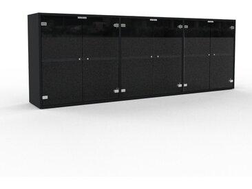 Sideboard Kristallglas klar - Designer-Sideboard: Türen in Kristallglas klar - Hochwertige Materialien - 226 x 80 x 35 cm, Individuell konfigurierbar
