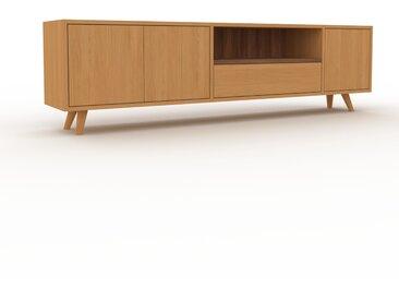 Sideboard Eiche - Sideboard: Schubladen in Eiche & Türen in Eiche - Hochwertige Materialien - 190 x 53 x 35 cm, konfigurierbar