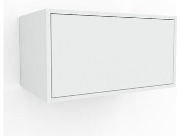 Hängeschrank Weiß - Moderner Wandschrank: Schubladen in Weiß - 77 x 41 x 47 cm, konfigurierbar