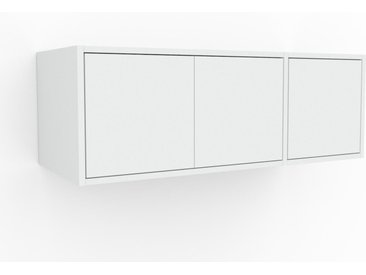 Hängeschrank Weiß - Moderner Wandschrank: Türen in Weiß - 116 x 41 x 47 cm, konfigurierbar