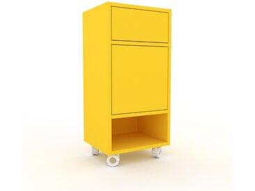 Rollcontainer Gelb - Rollcontainer: Schubladen in Gelb & Türen in Gelb - 41 x 87 x 35 cm, konfigurierbar