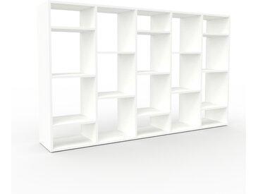 Schallplattenregal Weiß - Modernes Regal für Schallplatten: Hochwertige Qualität, einzigartiges Design - 195 x 118 x 35 cm, Selbst designen
