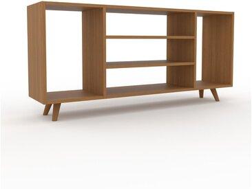 Bücherregal Eiche, Holz - Modernes Regal für Bücher: Hochwertige Qualität, einzigartiges Design - 154 x 72 x 35 cm, konfigurierbar