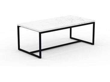 Beistelltisch Marmor, Weißer Carrara - Eleganter Nachttisch: Hochwertige Materialien, einzigartiges Design - 81 x 31 x 42 cm, Komplett anpassbar