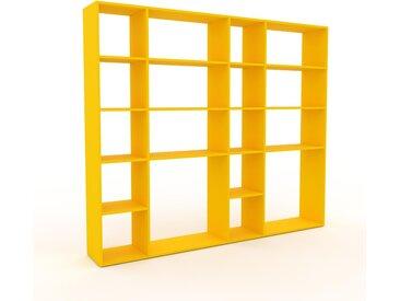 Bücherregal Gelb - Modernes Regal für Bücher: Hochwertige Qualität, einzigartiges Design - 229 x 195 x 35 cm, Individuell konfigurierbar