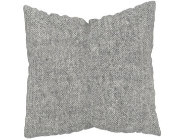 Kissen - Kiesgrau, 50x50cm - Melierte Wolle, individuell konfigurierbar