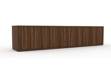 Lowboard Nussbaum - Designer-TV-Board: Türen in Nussbaum - Hochwertige Materialien - 190 x 41 x 35 cm, Komplett anpassbar