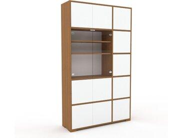 Vitrine Weiß - Moderne Glasvitrine: Türen in Weiß - Hochwertige Materialien - 116 x 196 x 35 cm, Selbst zusammenstellen