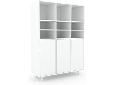 Highboard Weiß - Elegantes Highboard: Türen in Weiß - Hochwertige Materialien - 118 x 168 x 47 cm, Selbst designen