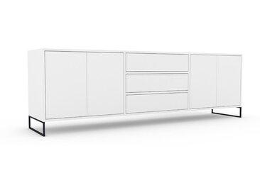 Sideboard Weiß - Sideboard: Schubladen in Weiß & Türen in Weiß - Hochwertige Materialien - 226 x 72 x 47 cm, konfigurierbar