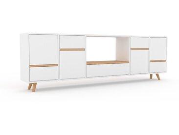 Sideboard Weiß - Sideboard: Schubladen in Weiß & Türen in Weiß - Hochwertige Materialien - 231 x 72 x 35 cm, konfigurierbar