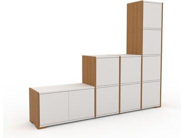 Regalsystem Weiß - Flexibles Regalsystem: Türen in Weiß - Hochwertige Materialien - 193 x 158 x 35 cm, Komplett anpassbar