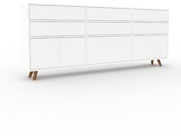Sideboard Weiß - Sideboard: Schubladen in Weiß & Türen in Weiß - Hochwertige Materialien - 226 x 91 x 35 cm, konfigurierbar