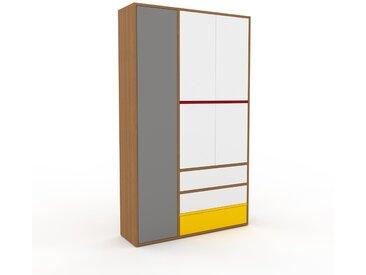 Schank Weiß - Moderner Schrank: Schubladen in Weiß & Türen in Weiß - Hochwertige Materialien - 116 x 195 x 35 cm, konfigurierbar