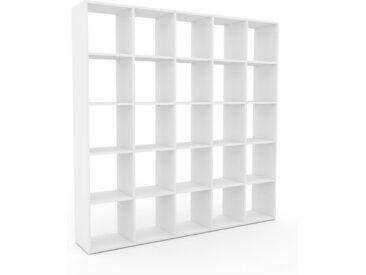 Bücherregal Weiß - Modernes Regal für Bücher: Hochwertige Qualität, einzigartiges Design - 195 x 195 x 35 cm, Individuell konfigurierbar