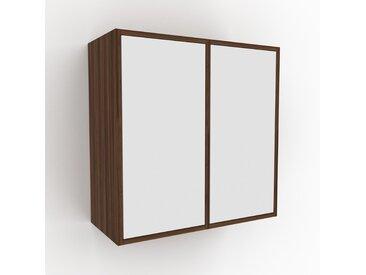 Hängeschrank Weiß - Moderner Wandschrank: Türen in Weiß - 79 x 80 x 35 cm, konfigurierbar