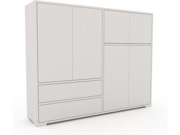 Highboard Weiß - Highboard: Schubladen in Weiß & Türen in Weiß - Hochwertige Materialien - 152 x 120 x 35 cm, Selbst designen