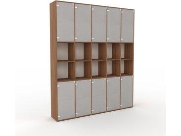 Aktenschrank Kristallglas satiniert - Flexibler Büroschrank: Türen in Kristallglas satiniert - Hochwertige Materialien - 195 x 234 x 35 cm, Modular