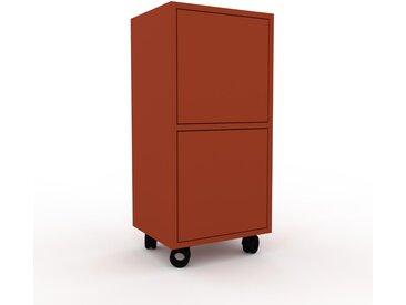 Rollcontainer Terrakotta - Moderner Rollcontainer: Türen in Terrakotta - 41 x 87 x 35 cm, konfigurierbar