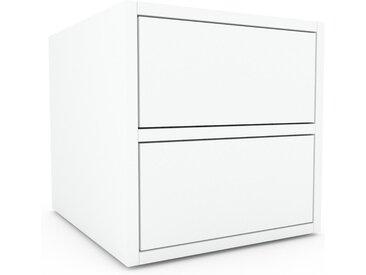 Nachtschrank Weiß - Eleganter Nachtschrank: Schubladen in Weiß - Hochwertige Materialien - 41 x 41 x 47 cm, konfigurierbar