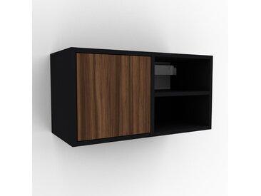 Hängeschrank Nussbaum - Moderner Wandschrank: Türen in Nussbaum - 79 x 41 x 35 cm, konfigurierbar