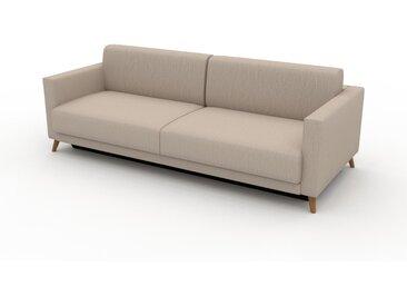 Sofa 3-Sitzer Cremeweiß Webstoff - Elegantes, gemütliches 3-Sitzer Sofa: Hochwertige Qualität, einzigartiges Design - 225 x 75 x 98 cm, konfigurierbar