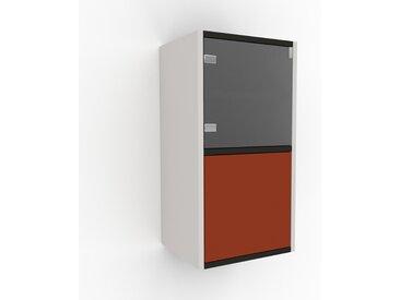 Hängeschrank Terrakotta - Moderner Wandschrank: Türen in Terrakotta - 41 x 80 x 35 cm, konfigurierbar