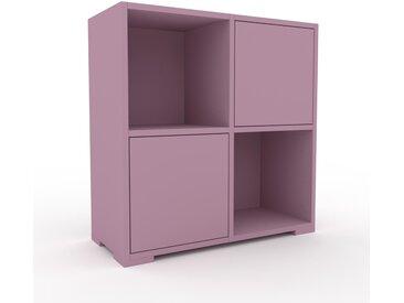 Kommode Puderrosa - Design-Lowboard: Türen in Puderrosa - Hochwertige Materialien - 79 x 81 x 35 cm, Selbst zusammenstellen