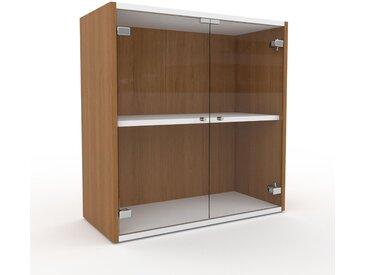 Kommode Kristallglas klar - Design-Lowboard: Türen in Kristallglas klar - Hochwertige Materialien - 77 x 80 x 35 cm, Selbst zusammenstellen