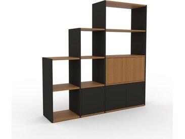 Regalsystem Graphitgrau - Flexibles Regalsystem: Türen in Graphitgrau - Hochwertige Materialien - 154 x 157 x 35 cm, Komplett anpassbar