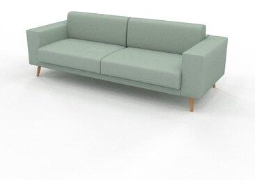 Sofa 3-Sitzer Minzgrün Strukturgewebe - Elegantes, gemütliches 3-Sitzer Sofa: Hochwertige Qualität, einzigartiges Design - 248 x 81 x 98 cm, konfigurierbar