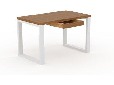 Schreibtisch Massivholz Eiche - Moderner Massivholz-Schreibtisch: mit 1 Schublade/n - Hochwertige Materialien - 120 x 75 x 70 cm, konfigurierbar