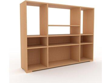 Schallplattenregal Buche, Holz - Modernes Regal für Schallplatten: Hochwertige Qualität, einzigartiges Design - 154 x 120 x 35 cm, Selbst designen
